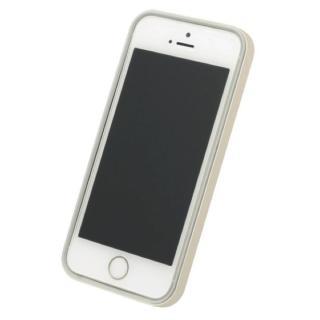 【iPhone SE/5s/5ケース】フラットバンパーセット  iPhone SE/5s/5(ゴールド)