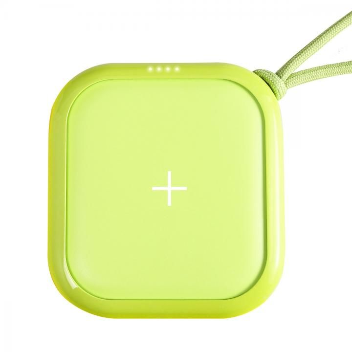 ワイヤレスモバイルバッテリー POWER CUBE PRO 10,000mAh ネオングリーン_0