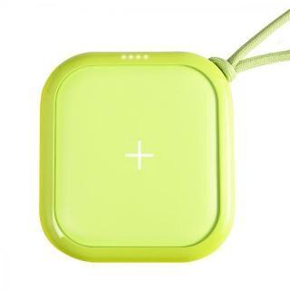 ワイヤレスモバイルバッテリー POWER CUBE PRO 10,000mAh ネオングリーン【1月下旬】