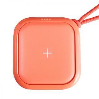 ワイヤレスモバイルバッテリー POWER CUBE PRO 10,000mAh コーラルピンク【4月下旬】