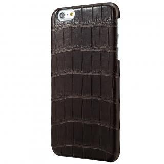 GRAMAS Meister クロコダイル レザーケース ブラウン iPhone 6s Plus/6 Plusケース