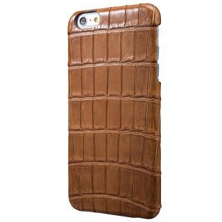 GRAMAS Meister クロコダイル レザーケース キャメル iPhone 6s Plus/6 Plusケース