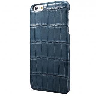 GRAMAS Meister クロコダイル レザーケース ネイビー iPhone 6s Plus/6 Plusケース
