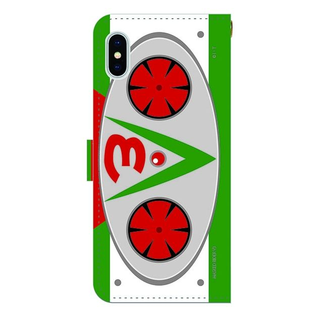 iPhone X ケース 仮面ライダーV3(ブイスリー) 手帳型ケース iPhone X_0