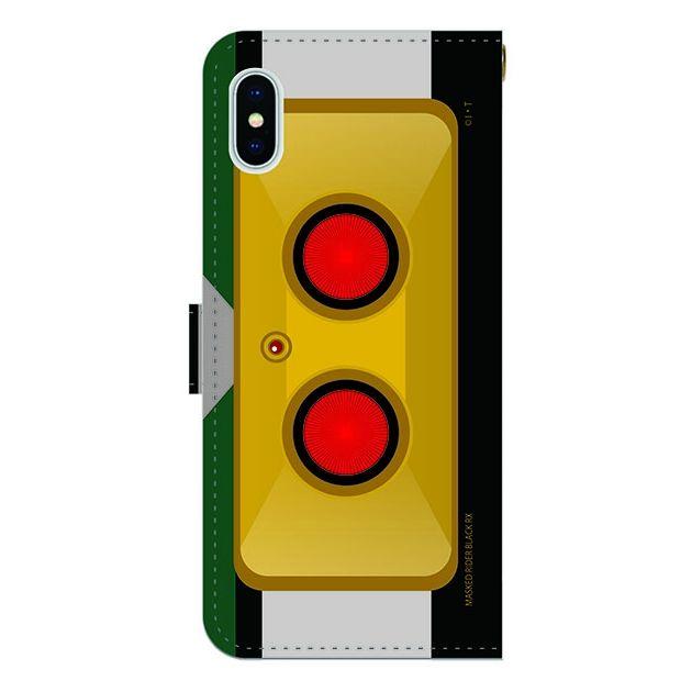 iPhone X ケース 仮面ライダーBLACK RX(ブラックアールエックス) 手帳型ケース iPhone X_0