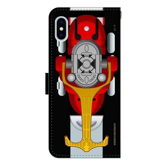 iPhone X ケース 仮面ライダーカブト 手帳型ケース iPhone X_0