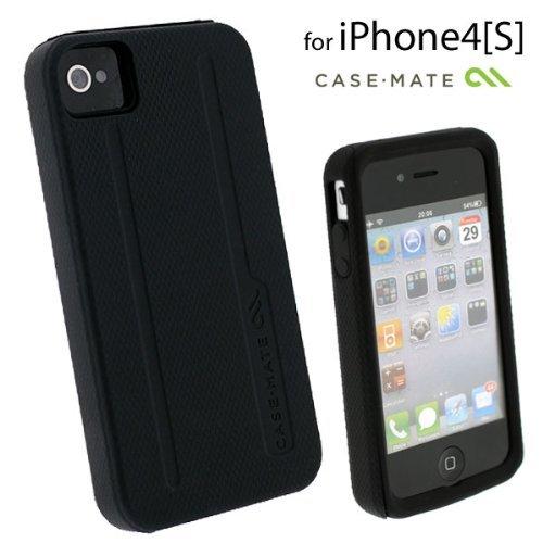 Case-Mate iPhone 4/4s用 ハイブリッドタフケース ブラック/ブラック_0