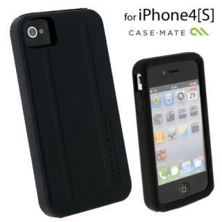 【その他のiPhone/iPodケース】Case-Mate iPhone 4/4s用 ハイブリッドタフケース ブラック/ブラック