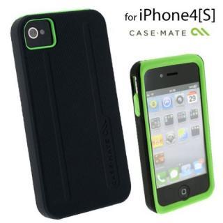 【その他のiPhone/iPodケース】Case-Mate iPhone 4/4s用 ハイブリッドタフケース ブラック/グリーン