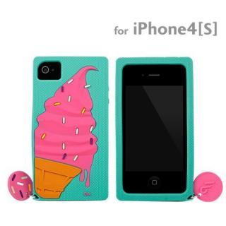 【その他のiPhone/iPodケース】Case-Mate iPhone 4/4s用 ソフトケース クリーチャーズ アイスクリーム ターコイズ