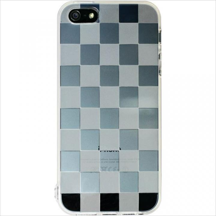 iPhone SE/5s/5 ケース Highend Berry チェッカード クリア ストラップホール付き ケース_0
