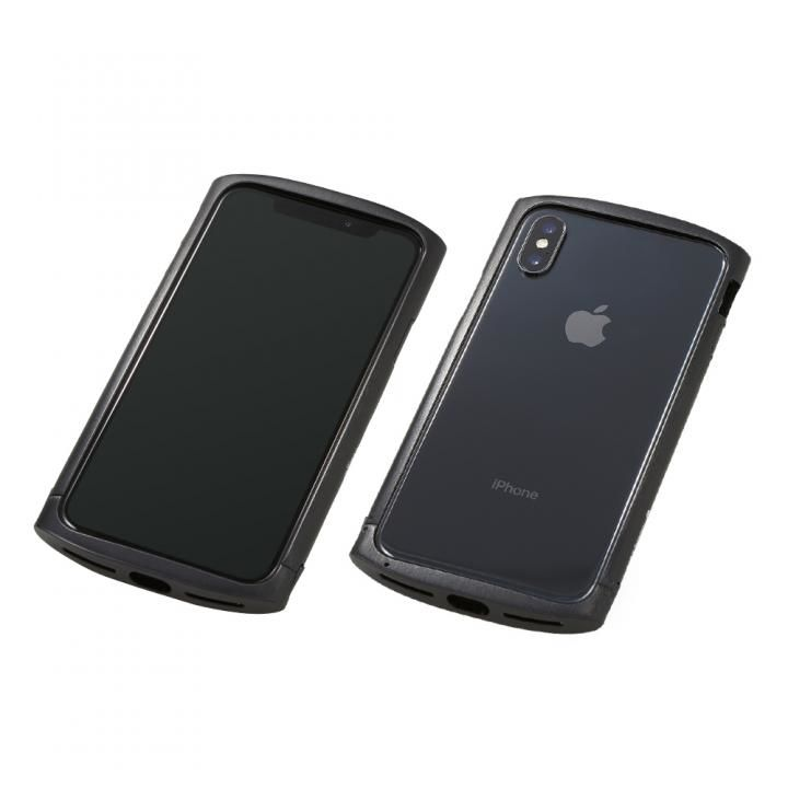 【iPhone XS/Xケース】Deff Cleave アルミバンパー ellipse ブラック iPhone XS/X_0