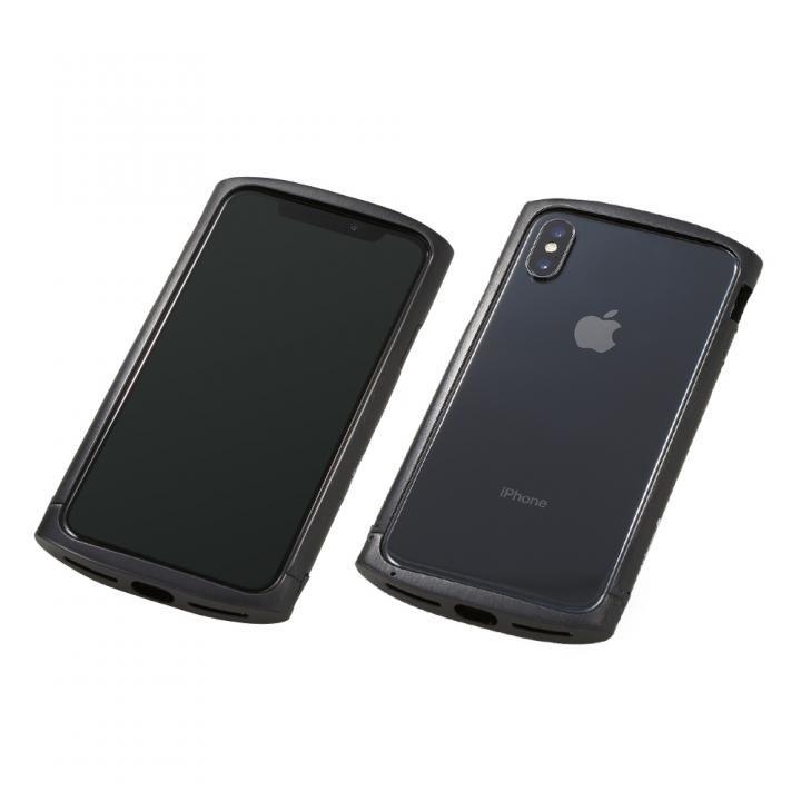 iPhone XS/X ケース Deff Cleave アルミバンパー ellipse ブラック iPhone XS/X_0