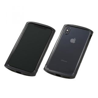 iPhone XS/X ケース Deff Cleave アルミバンパー ellipse ブラック iPhone XS/X