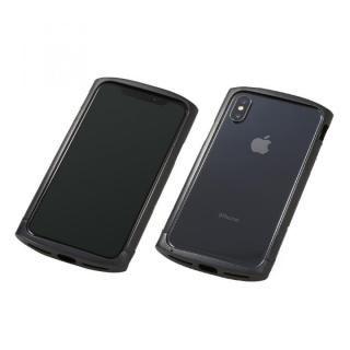 【iPhone XS/Xケース】Deff Cleave アルミバンパー ellipse ブラック iPhone XS/X