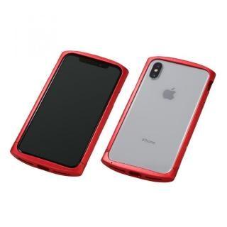 【iPhone XS/Xケース】Deff Cleave アルミバンパー ellipse レッド iPhone XS/X