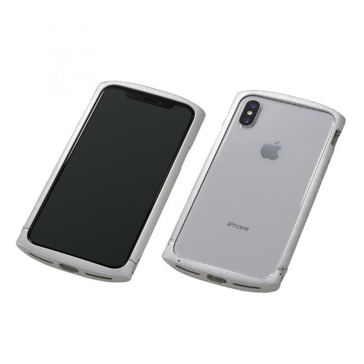 【iPhone XS/Xケース】Deff Cleave アルミバンパー ellipse シルバー iPhone XS/X_0