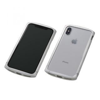 【iPhone X ケース】Deff Cleave アルミバンパー ellipse シルバー iPhone X
