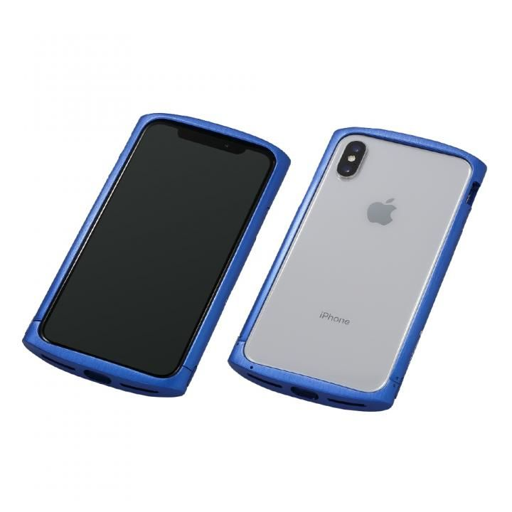【iPhone XS/Xケース】Deff Cleave アルミバンパー ellipse ブルー iPhone XS/X_0