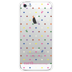 【iPhone SE/5s/5ケース】rabbit dot case  iPhone5(液晶保護フィルム付き/iPhone5/CL)_0