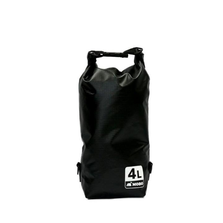 丈夫な素材・両掛け対応ストラップ付き Water Sports Dry Bag 4L ブラック_0