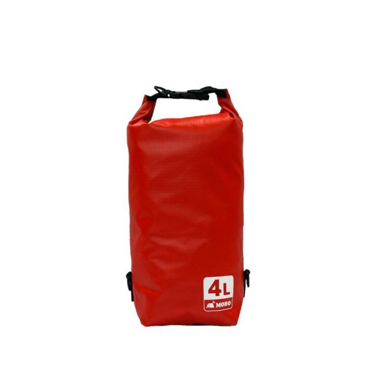 丈夫な素材・両掛け対応ストラップ付き Water Sports Dry Bag 4L レッド_0