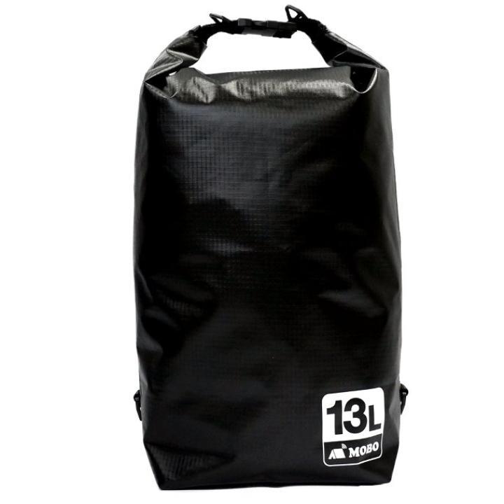 丈夫な素材・両掛け対応ストラップ付き Water Sports Dry Bag 13L ブラック_0