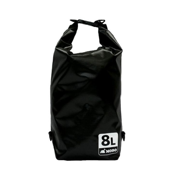丈夫な素材・両掛け対応ストラップ付き Water Sports Dry Bag 8L ブラック_0