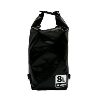 [4周年特価]丈夫な素材・両掛け対応ストラップ付き Water Sports Dry Bag 8L ブラック【6月中旬】