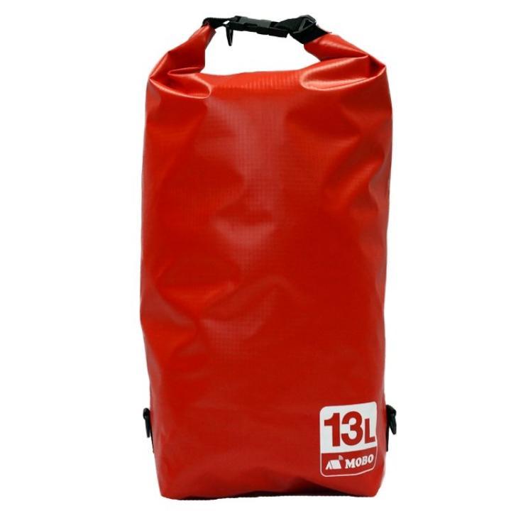 丈夫な素材・両掛け対応ストラップ付き Water Sports Dry Bag 13L レッド_0