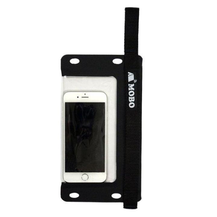 【iPhone7/7 Plusケース】防水スマホケース Water Sports Mobile Bag ハンド/ネックストラップ カラビナ付き ブラック_0