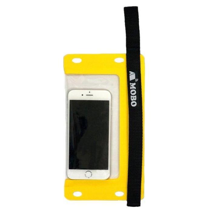 iPhone7/7 Plus ケース 防水スマホケース Water Sports Mobile Bag ハンド/ネックストラップ カラビナ付き イエロー_0