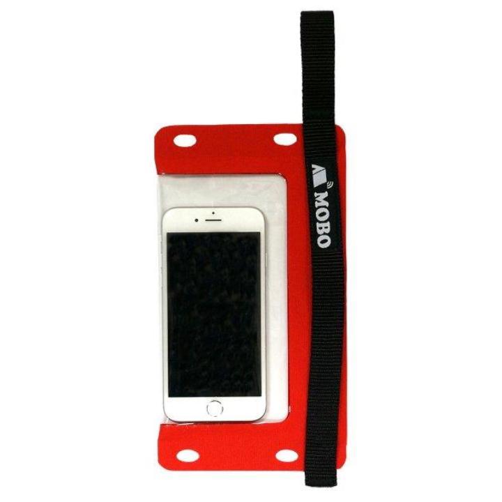 iPhone7/7 Plus ケース 防水スマホケース Water Sports Mobile Bag ハンド/ネックストラップ カラビナ付き レッド_0