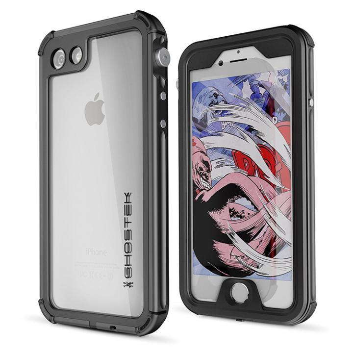 防水IP68準拠 アルミ合金ケース Atomic3.0 ブラック iPhone 8/7