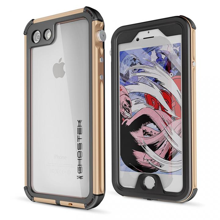 iPhone8/7 ケース 防水IP68準拠 アルミ合金ケース Atomic3.0 ゴールド iPhone SE 第2世代/8/7_0
