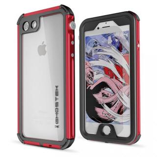 iPhone SE 第2世代 ケース 防水IP68準拠 アルミ合金ケース Atomic3.0 レッド iPhone SE 第2世代/8/7