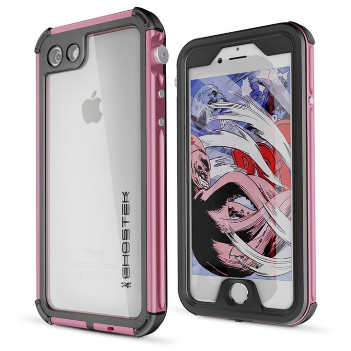 iPhone8/7 ケース 防水IP68準拠 アルミ合金ケース Atomic3.0 ピンク iPhone 8/7_0