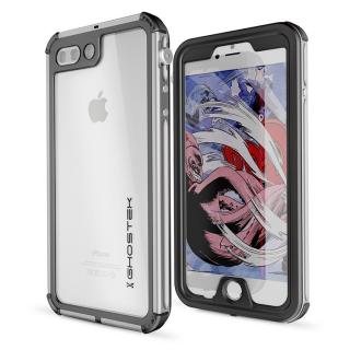 iPhone8 Plus/7 Plus ケース 防水IP68準拠 アルミ合金ケース Atomic3.0 シルバー iPhone 8 Plus/7 Plus