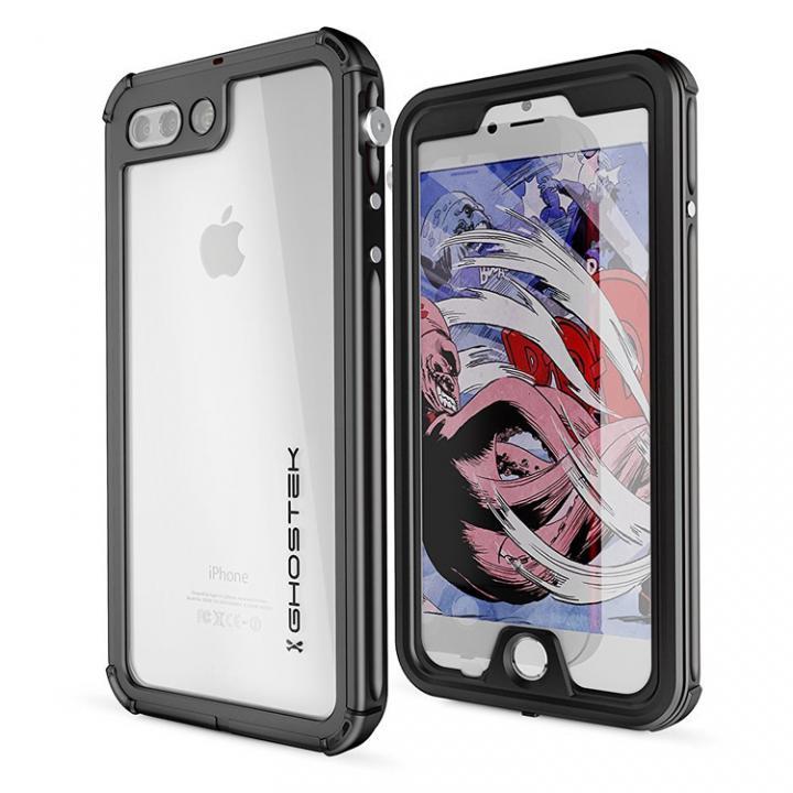 防水IP68準拠 アルミ合金ケース Atomic3.0 ブラック iPhone 8 Plus/7 Plus