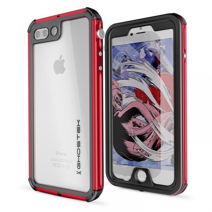 防水IP68準拠 アルミ合金ケース Atomic3.0 レッド iPhone 8 Plus/7 Plus【10月下旬】
