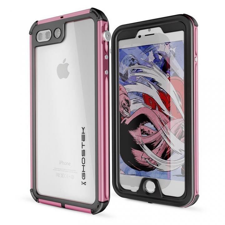 iPhone8 Plus/7 Plus ケース 防水IP68準拠 アルミ合金ケース Atomic3.0 ピンク iPhone 8 Plus/7 Plus_0
