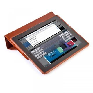 iPad 3rd/4th gen MagFolio Luxe - Cognac Leather