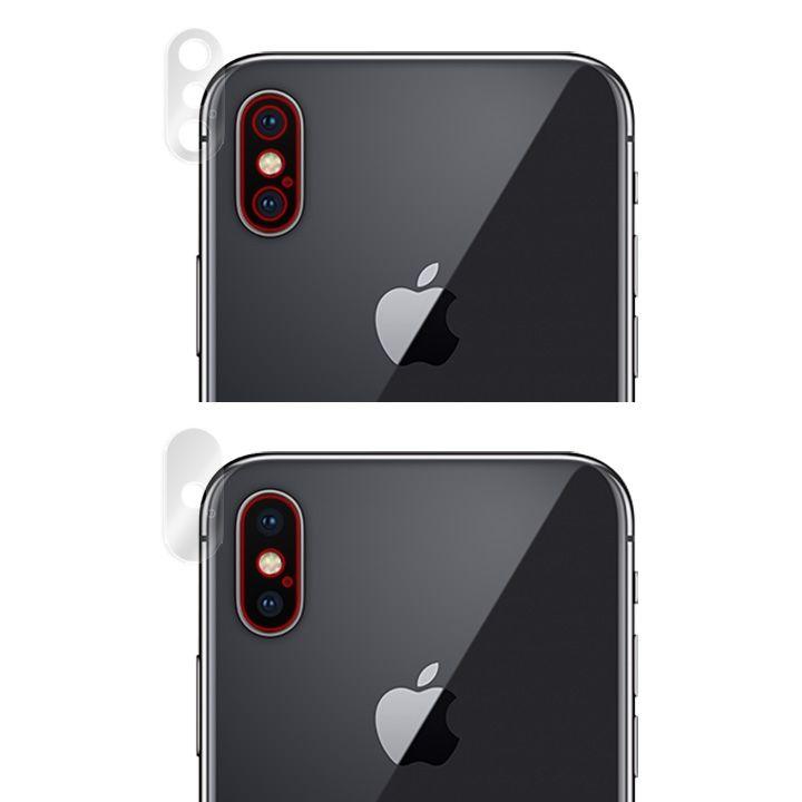 【iPhone Xフィルム】OverLay Brilliant リアカメラ保護フィルム  4枚セット iPhone X_0