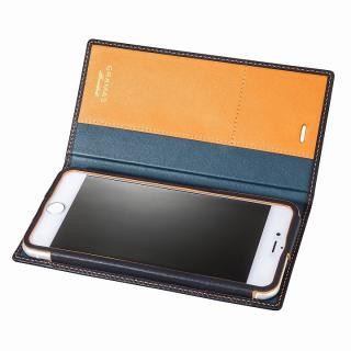[数量限定モデル]GRAMAS フルレザー手帳型ケース ネイビー/イエロー iPhone 6s Plus/6 Plus