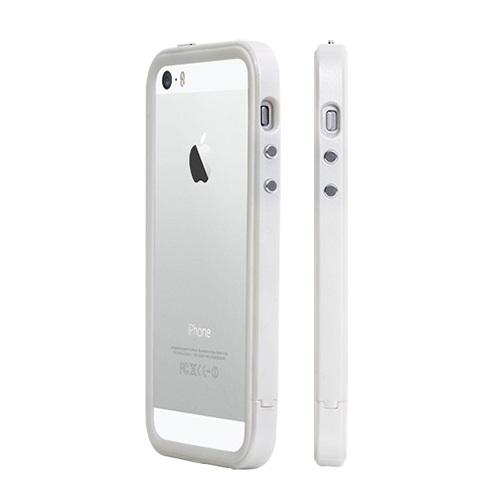 二層構造で衝撃に強い B1X Bumper Full Protection ホワイト iPhone SE/5s/5バンパー