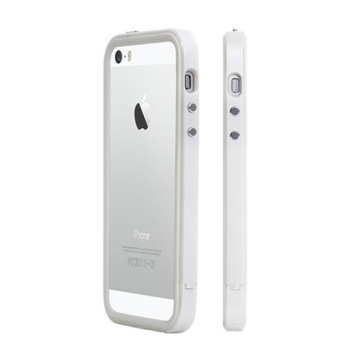 iPhone SE/5s/5 ケース 二層構造で衝撃に強い B1X Bumper Full Protection ホワイト iPhone SE/5s/5バンパー_0