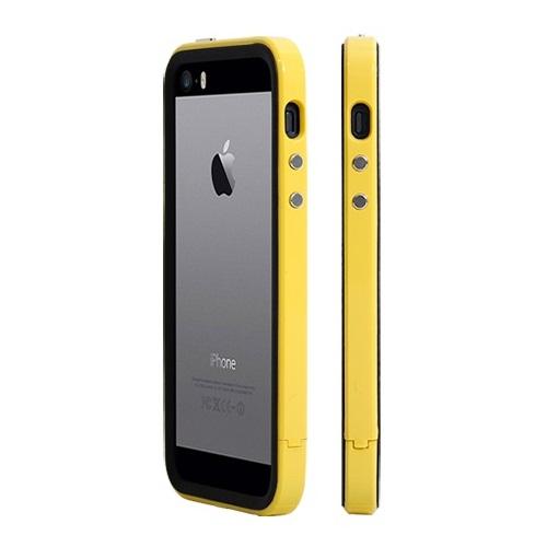 【iPhone SE/5s/5ケース】二層構造で衝撃に強い B1X Bumper Full Protection イエロー iPhone SE/5s/5バンパー_0