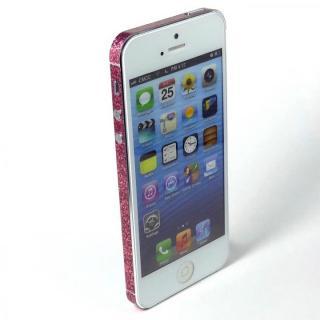 【iPhone SE/5s/5ケース】SPDeCO iPhone5 サイドシール/ラメピンク