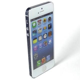 【iPhone SE/5s/5ケース】SPDeCO iPhone5 サイドシール/ラメブラック