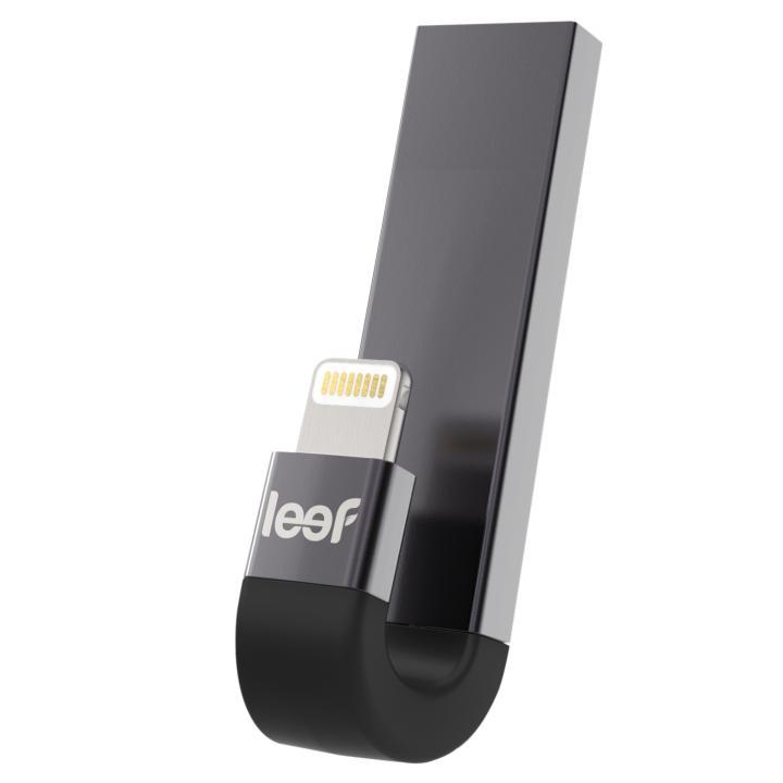[新iPhone記念特価]leef  iBRIDGE 3 USB/Lightningフラッシュメモリ ブラック 64GB【10月上旬】